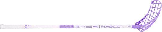 Unihoc EPIC Composite 29 Innebandykølle Venstre, White/Purple 96cm