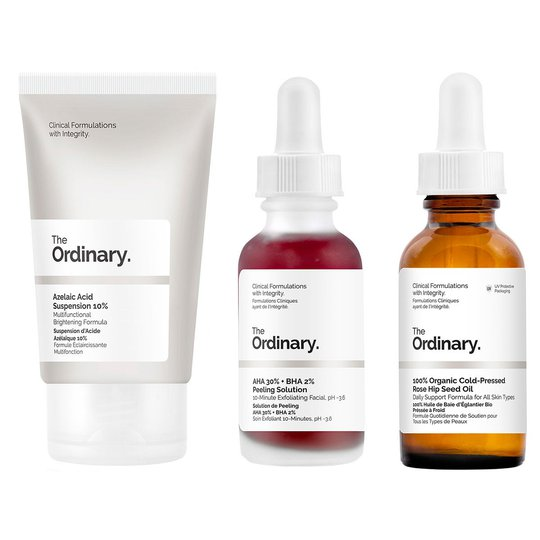 The Ordinary Set Of Actives - Acne scars, The Ordinary Ihonhoito