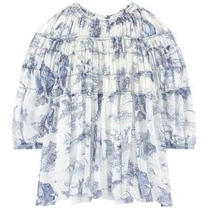 Chloé Mini Me Silk Robe Klänning Blå 5 år