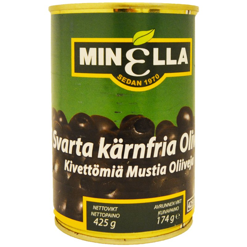 Kivettömät Mustat Oliivit 174g - 50% alennus
