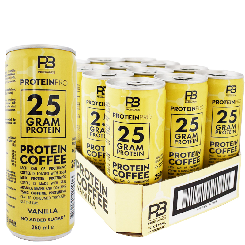 Proteinkaffe Vanilj 12-pack - 35% rabatt