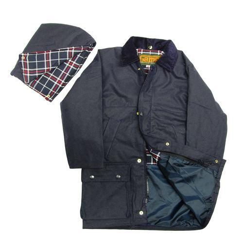 """Game Technical Apparel Kid's Quilted Jacket Wax - Navy 7 to 8 Years (26"""")"""