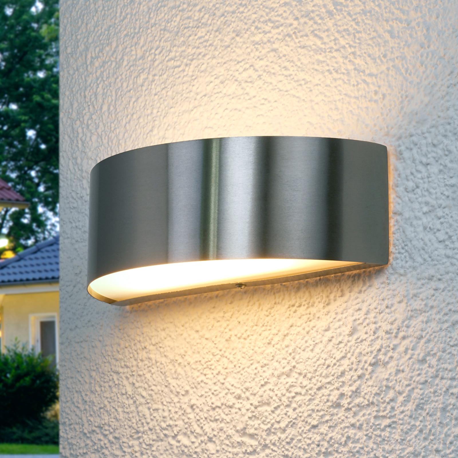 Nada LED-ulkoseinävalaisin, ruostumaton teräs
