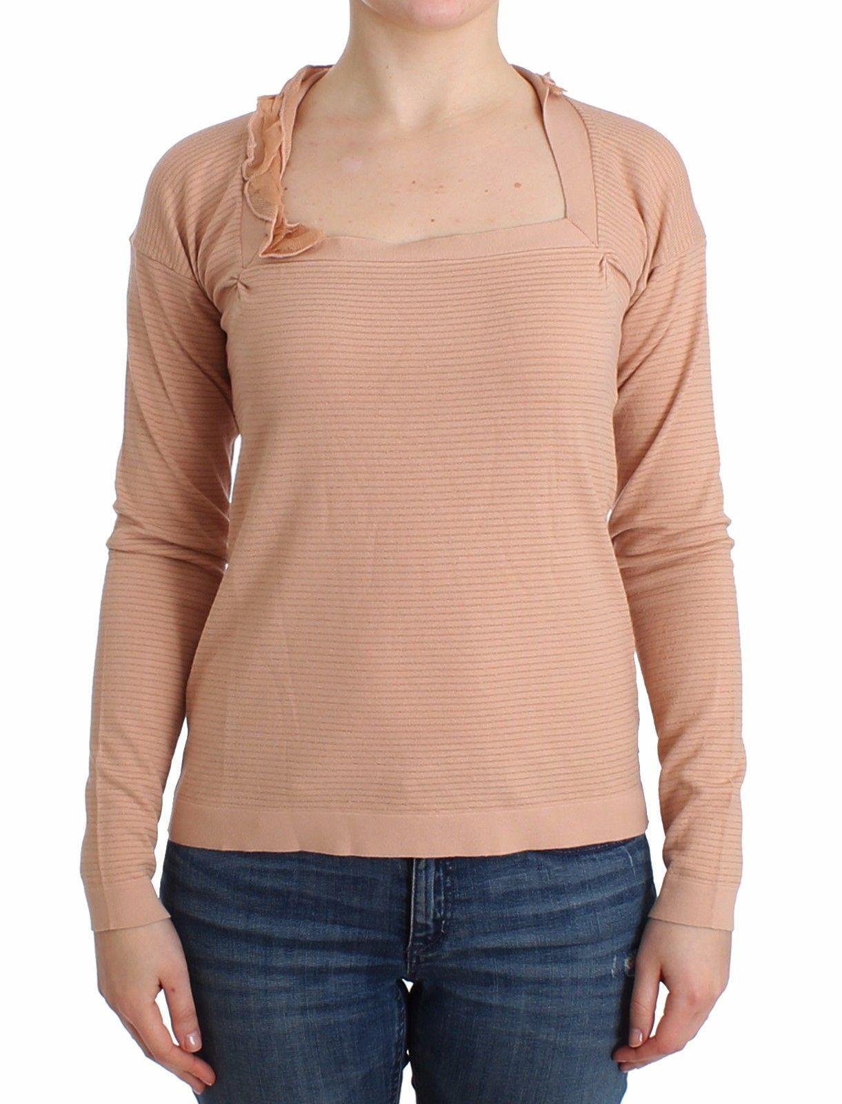 Ermanno Scervino Women's Striped LS Sweater Orange SIG12014 - IT44 | M