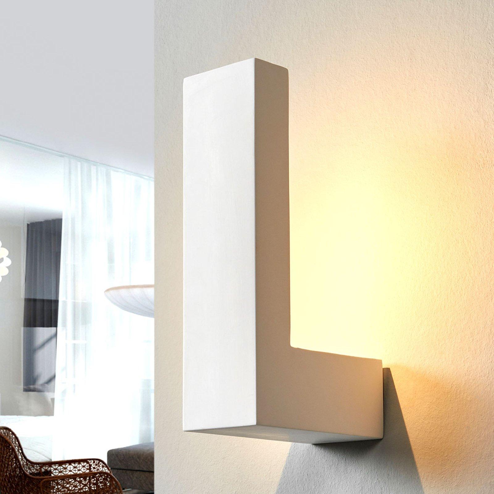 Hvit LED-vegglampe Cera i Aluminum.