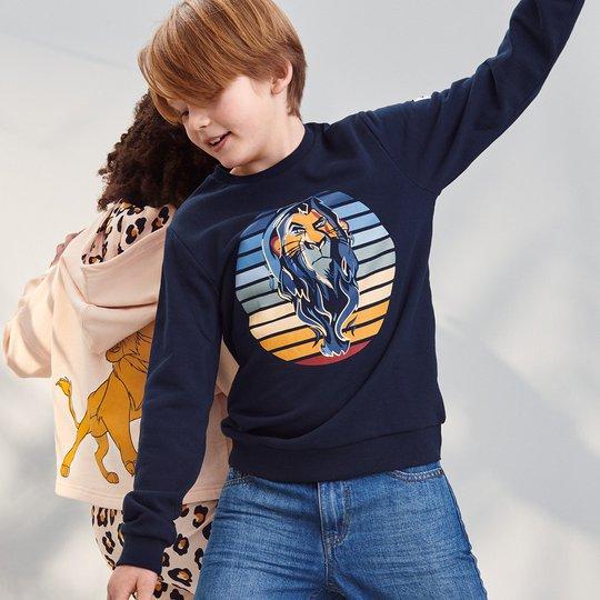 Collegegenser med scar fra løvenes konge mørkblå
