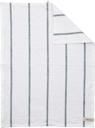 Kjøkkenhåndkle Hvit med grønne striper