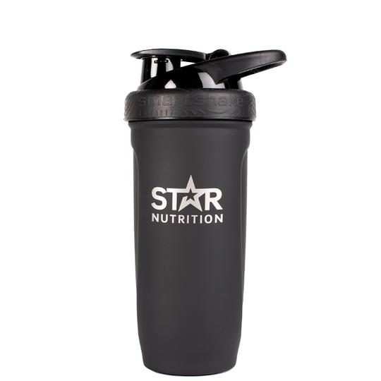 Star Nutrition Stainless Steel Shaker, Black, 900ml