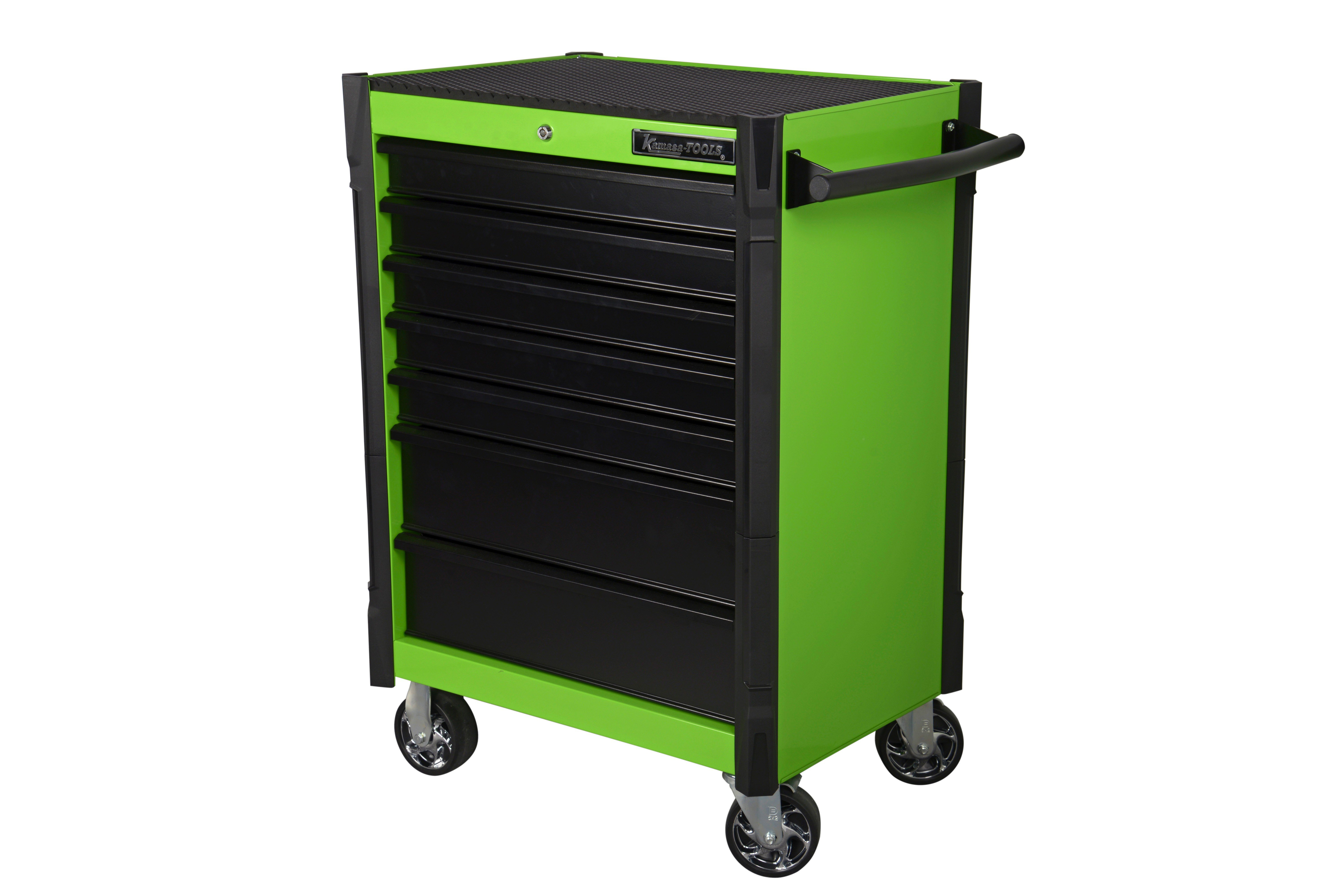 Verktygsvagn. 7 låd. ljusgrön