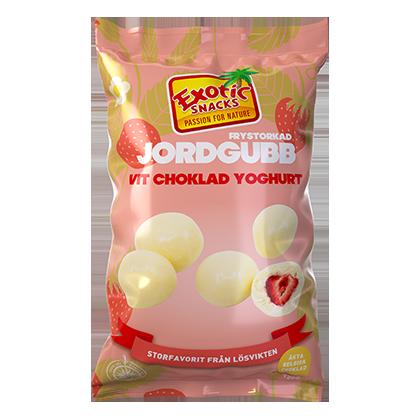 Exotic Snacks Frystorkad Jordgubb Vit Choklad Yoghurt 145g