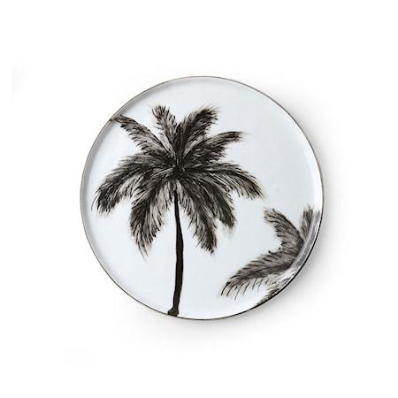 Bold & Basic Ceramics Porslin Assiett Palms