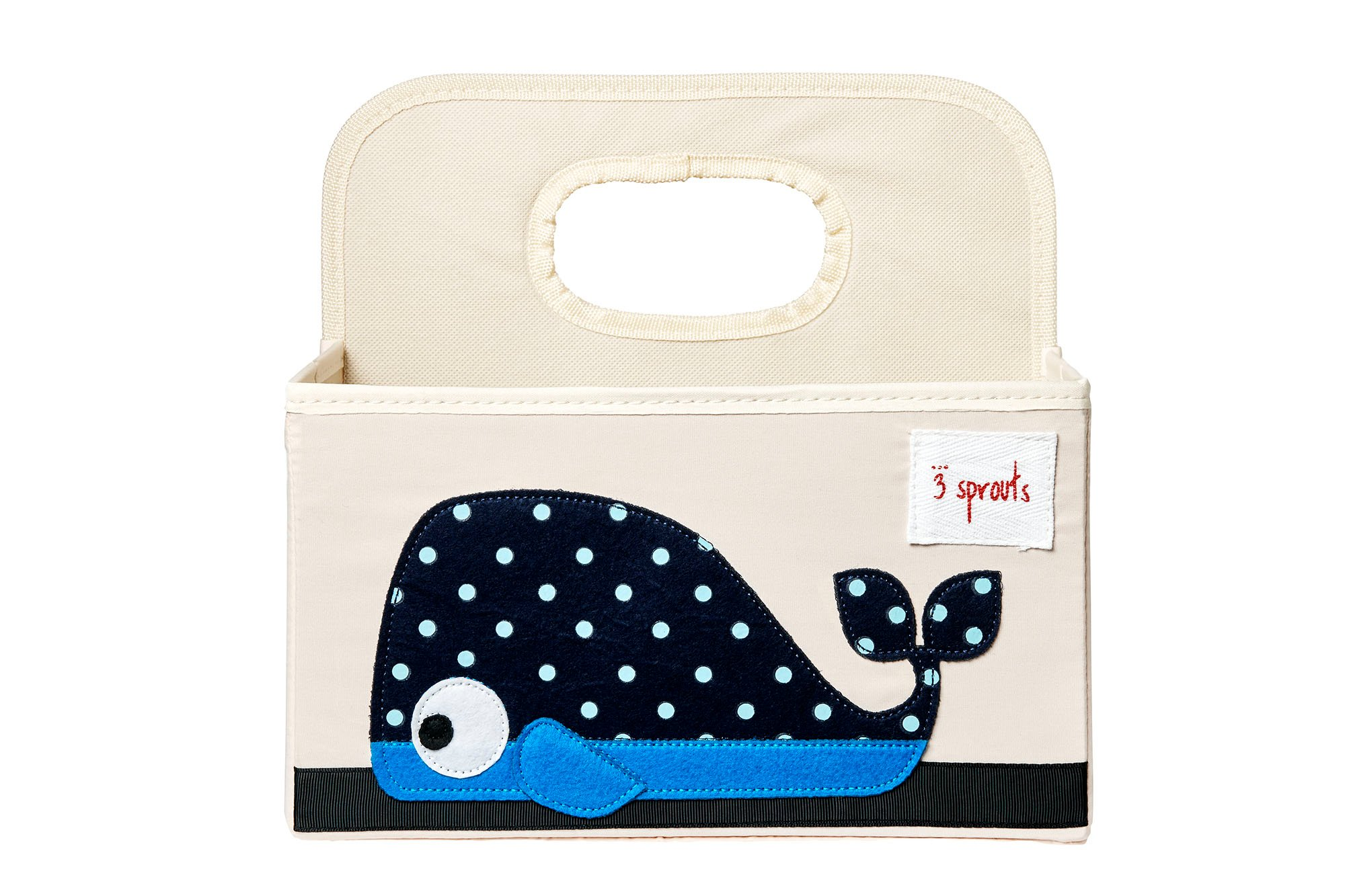 3 Sprouts - Diaper Caddy - Blue Whale