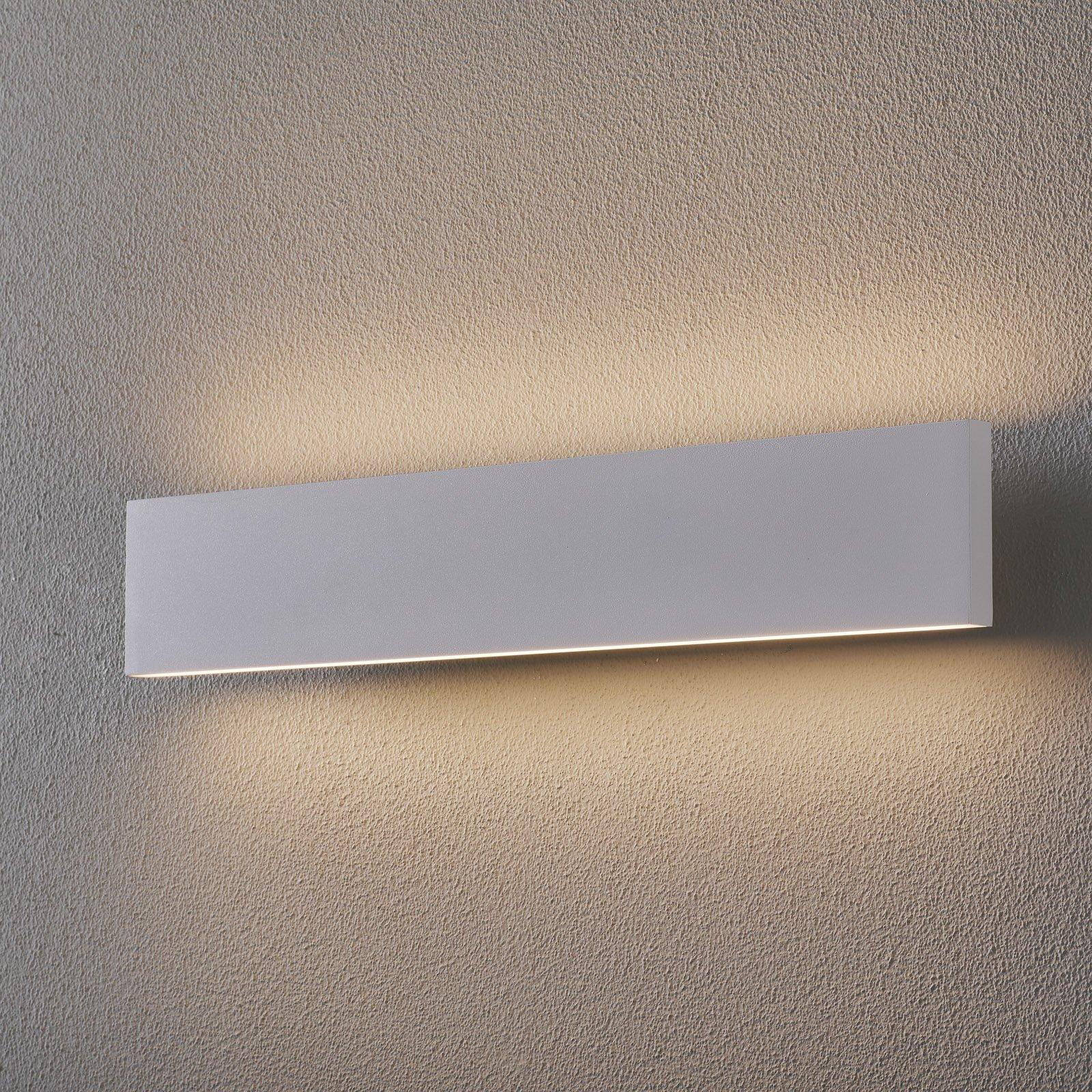 LED-vegglampe Concha 47 cm, hvit