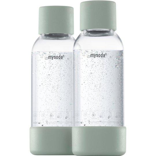 MySoda Vattenflaska 0,5 liter 2 st. Ljusgrön