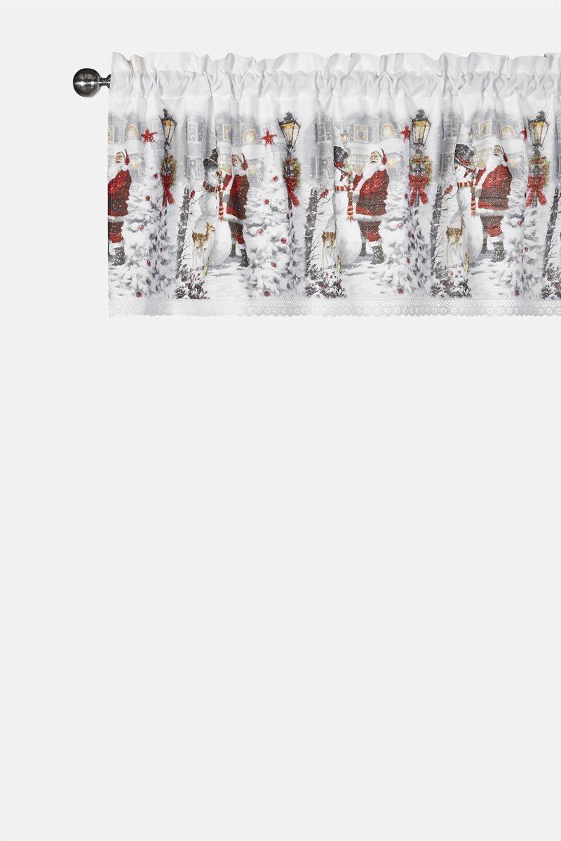 Julkväll verhokappa joulupukki/lumiukko