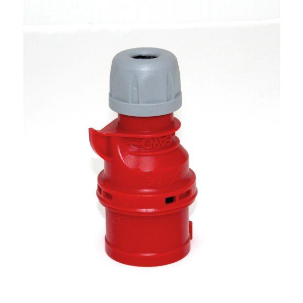 Garo Quick Pistotulppa IP44 5-napainen 16A 6h, punainen