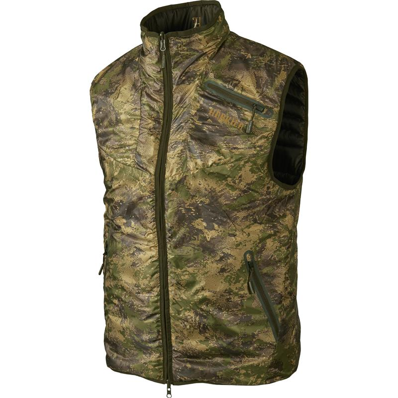 Härkila Lynx Insulated Rev vest S Willow green/AXIS MSP® Forest Green