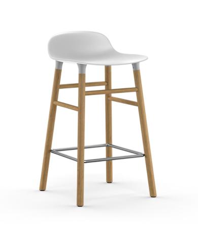 Form Barstol Hvit/Eik 65 cm