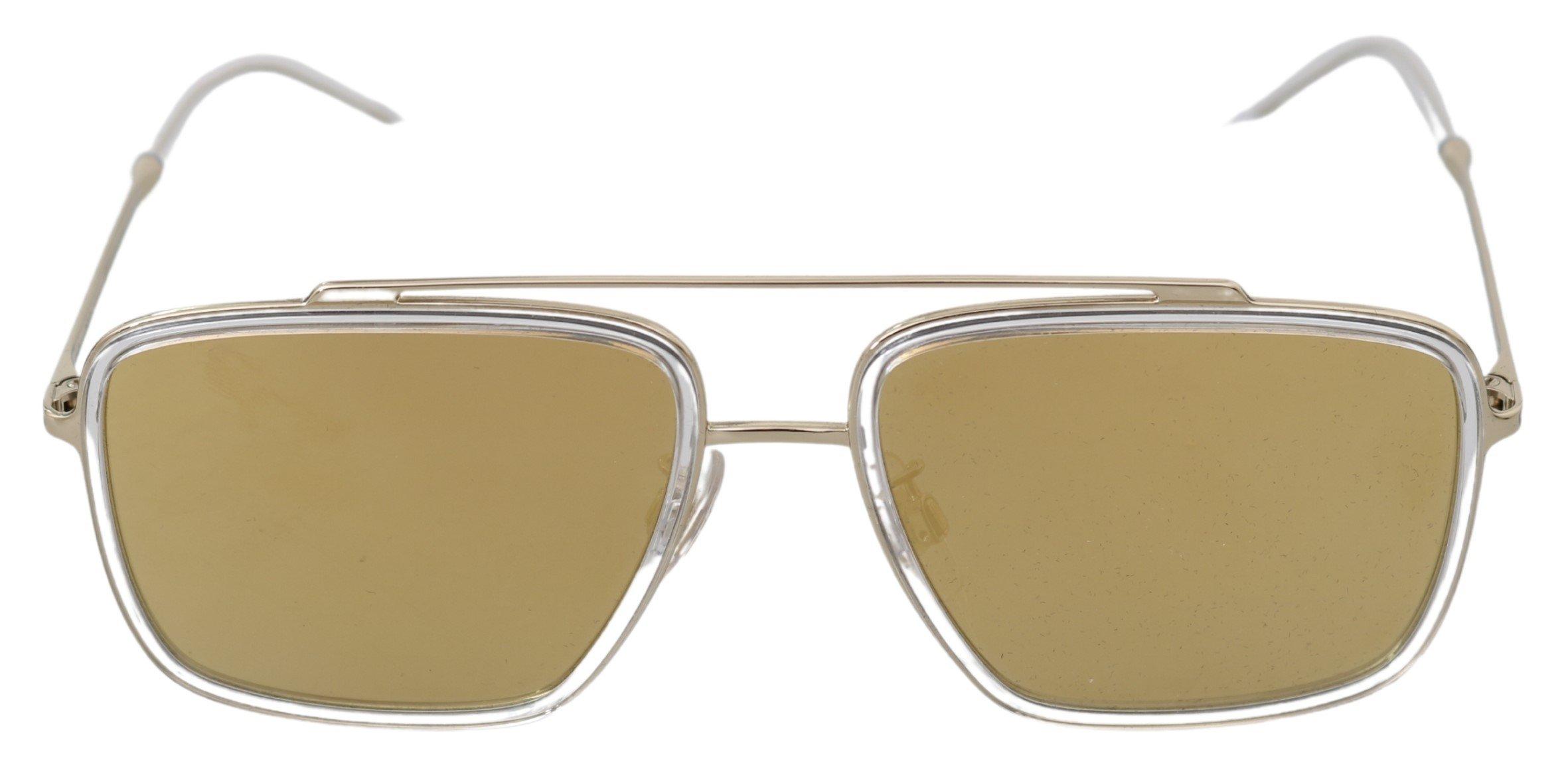 Dolce & Gabbana Women's MIirored Pilot Aviator Sunglasses Gold GLA768