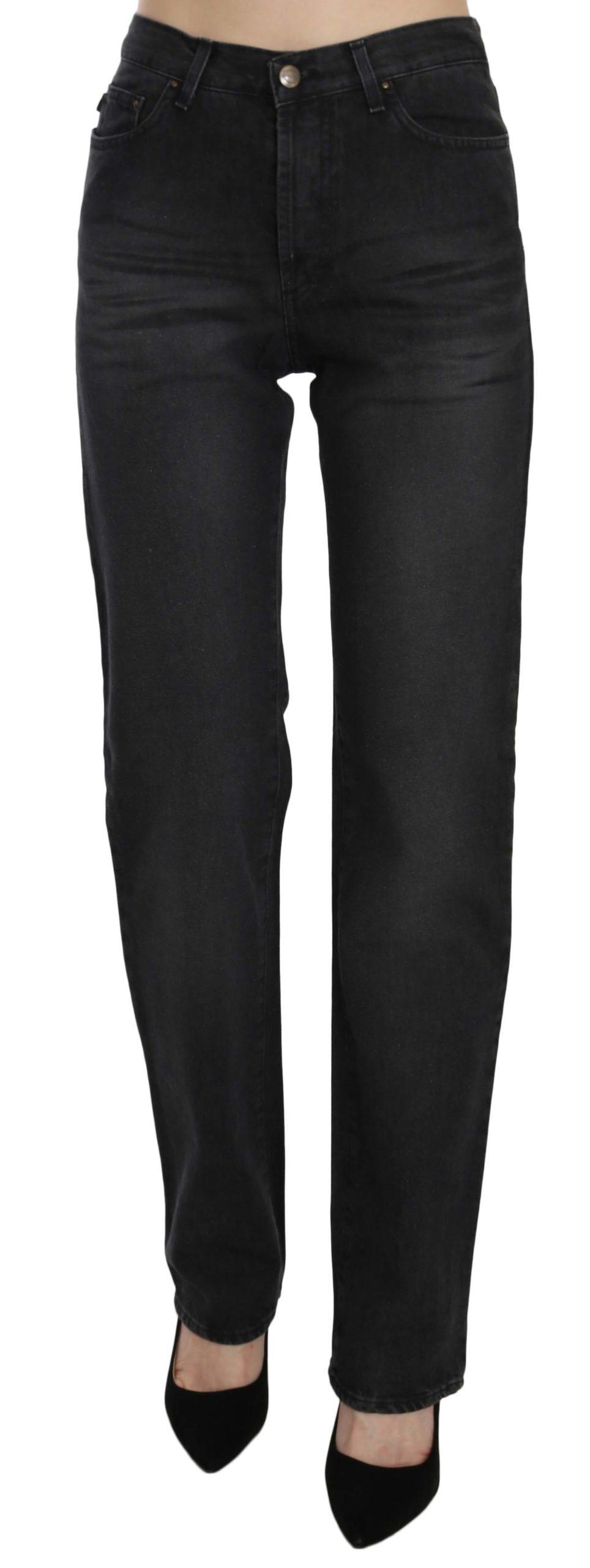 Just Cavalli Women's High Waist Straight Denim Trouser Black PAN70334 - W30