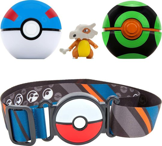 Pokémon Clip 'N Go Belt Set Great Ball, Dusk Ball og Cubone