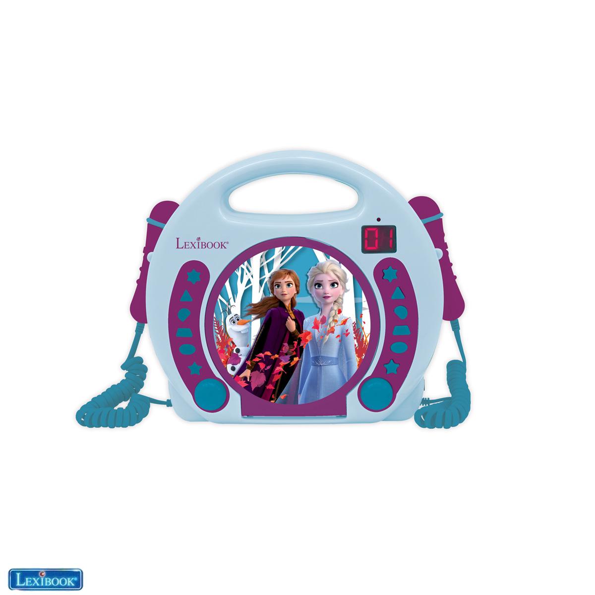 Lexibook - Frozen Portable CD player with 2 Sing Along microphones (RCDK100FZ)