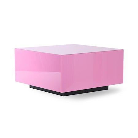Mirror Block Table Pink L