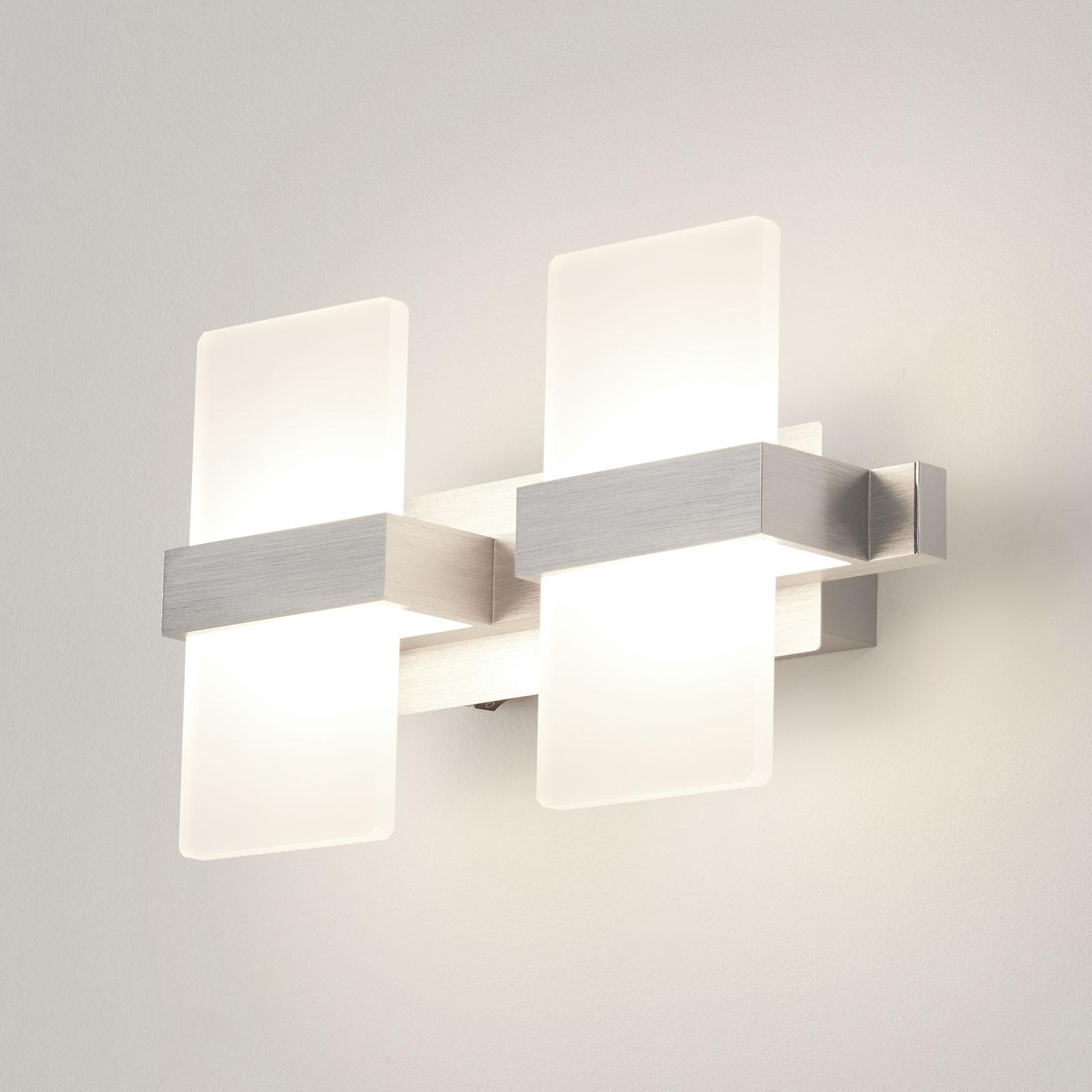 Trendikäs LED-seinävalaisin Platon, 2-lamppuinen