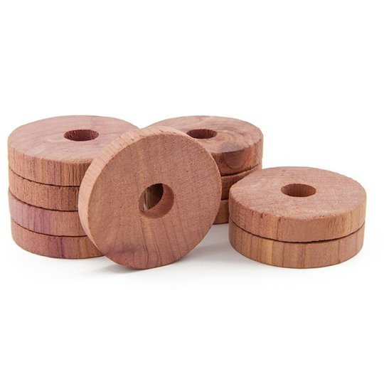 Redecker Ringar Rödcederträ, 10 st