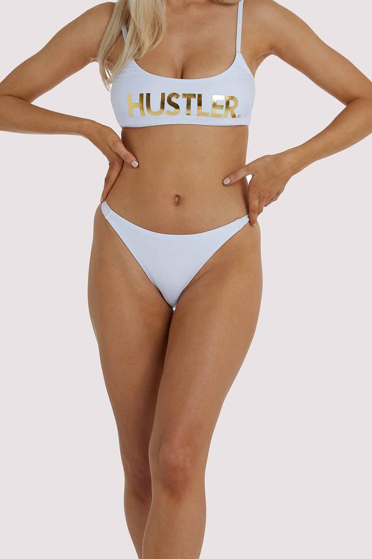 Hustler White Tanga Bikini Brief UK 10 / US 6