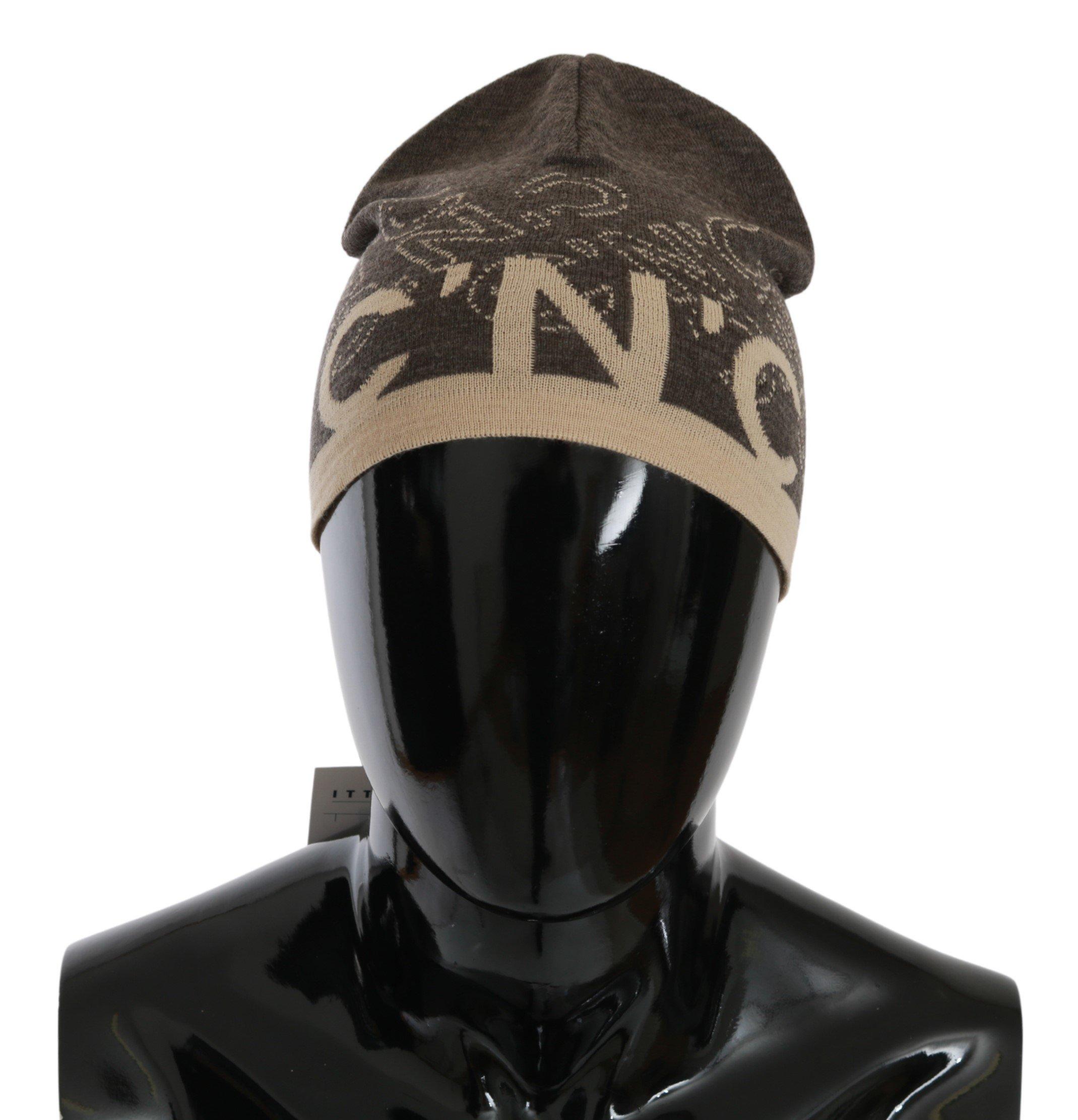 Costume National Men's Wool Blend Branded Hat HAT20137