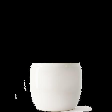 Blomsterkrukke Glasert keramikk 14x12 cm Hvit