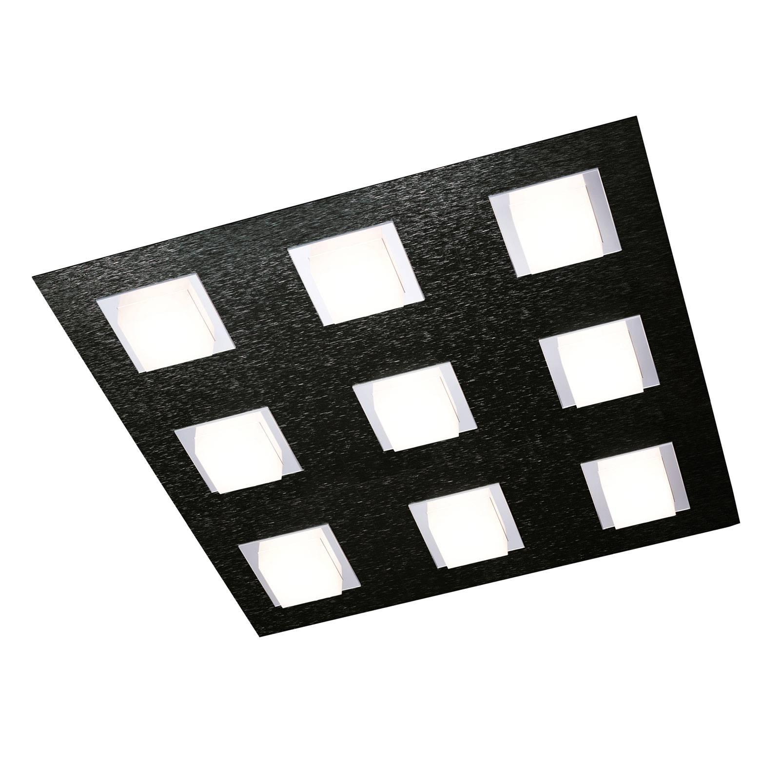 GROSSMANN Basic -kattovalaisin 9-lamppuinen musta