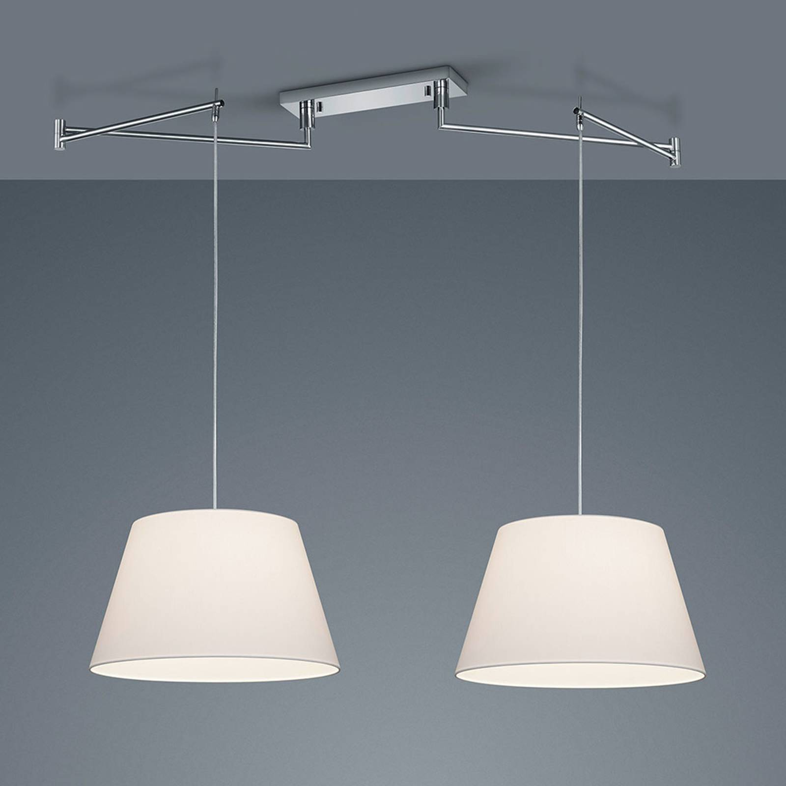 Helestra Certo -riippuvalo 2-lamppuinen valkoinen