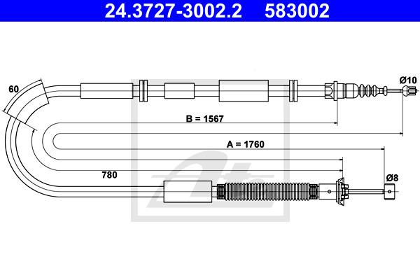 Käsijarruvaijeri ATE 24.3727-3002.2