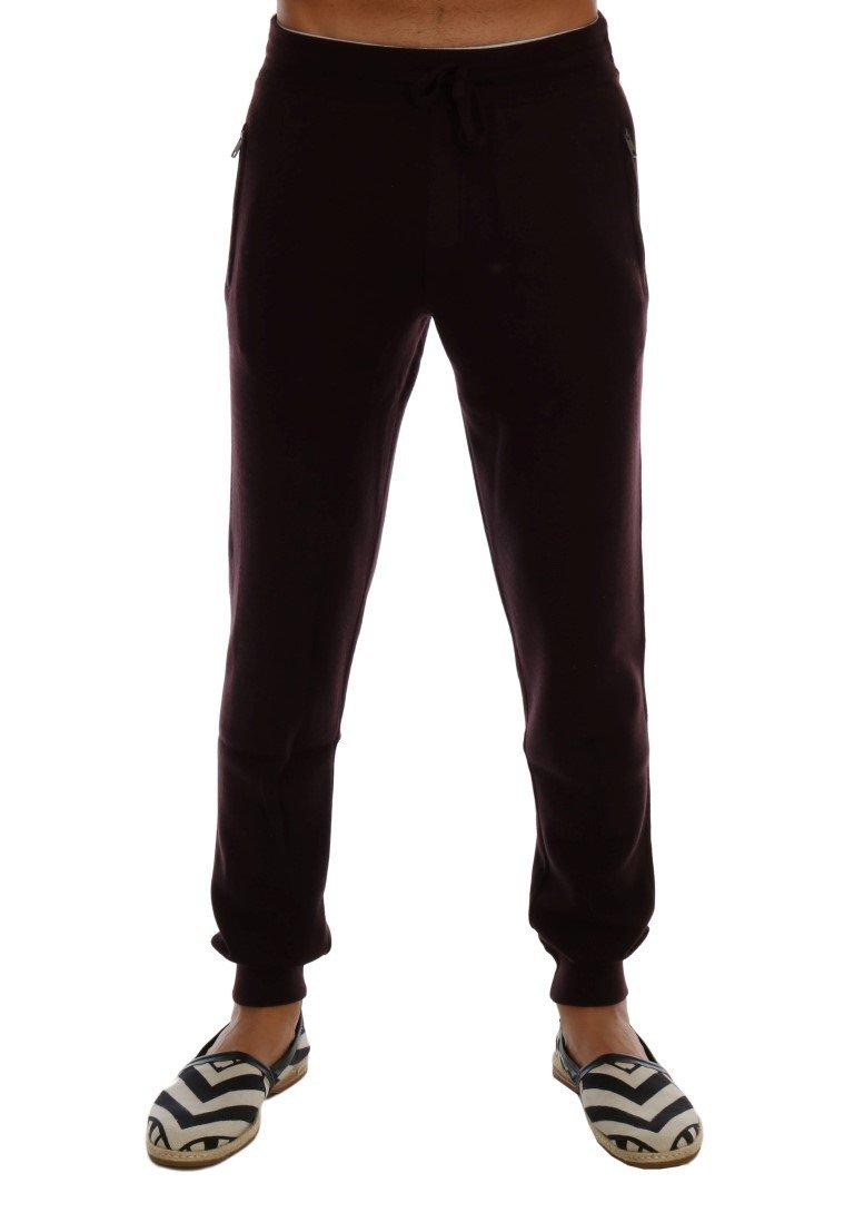 Dolce & Gabbana Men's Cashmere Gym Training Sport Trouser Purple PAN60745 - M