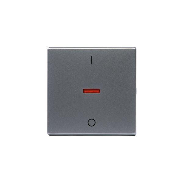 ABB 1788-83 Enkeltvippe 1-veis, rød linse, 1/0 Aluminium