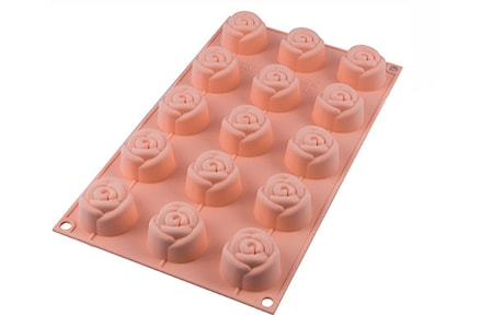 SF074 Small Rose Silikonform ?4,4 x H2,7cm
