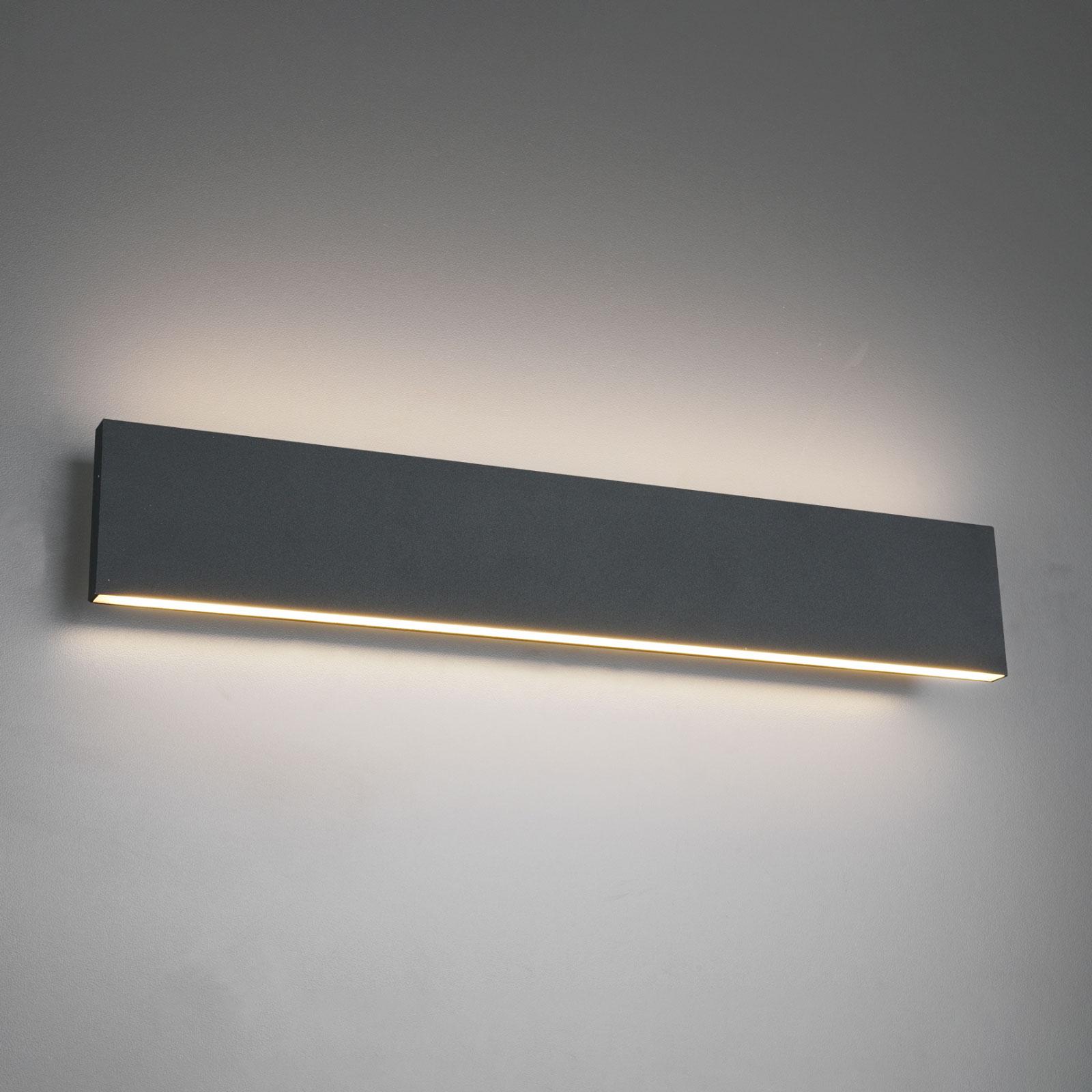 Concha-LED-seinävalaisin, 47 cm, antrasiitti