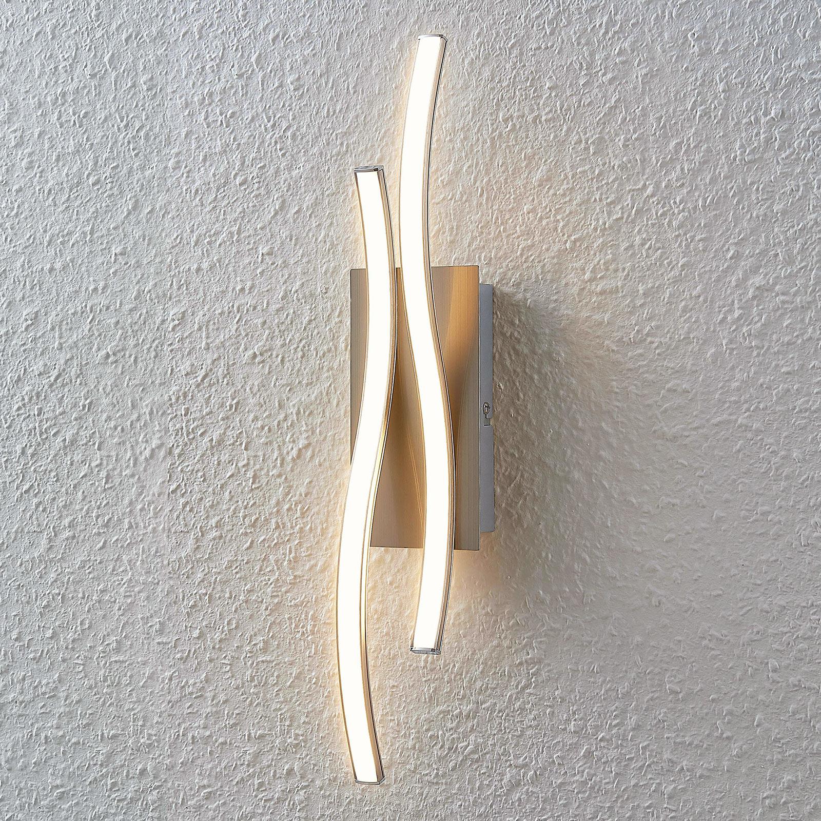 Aaltoileva Safia-LED-seinälamppu