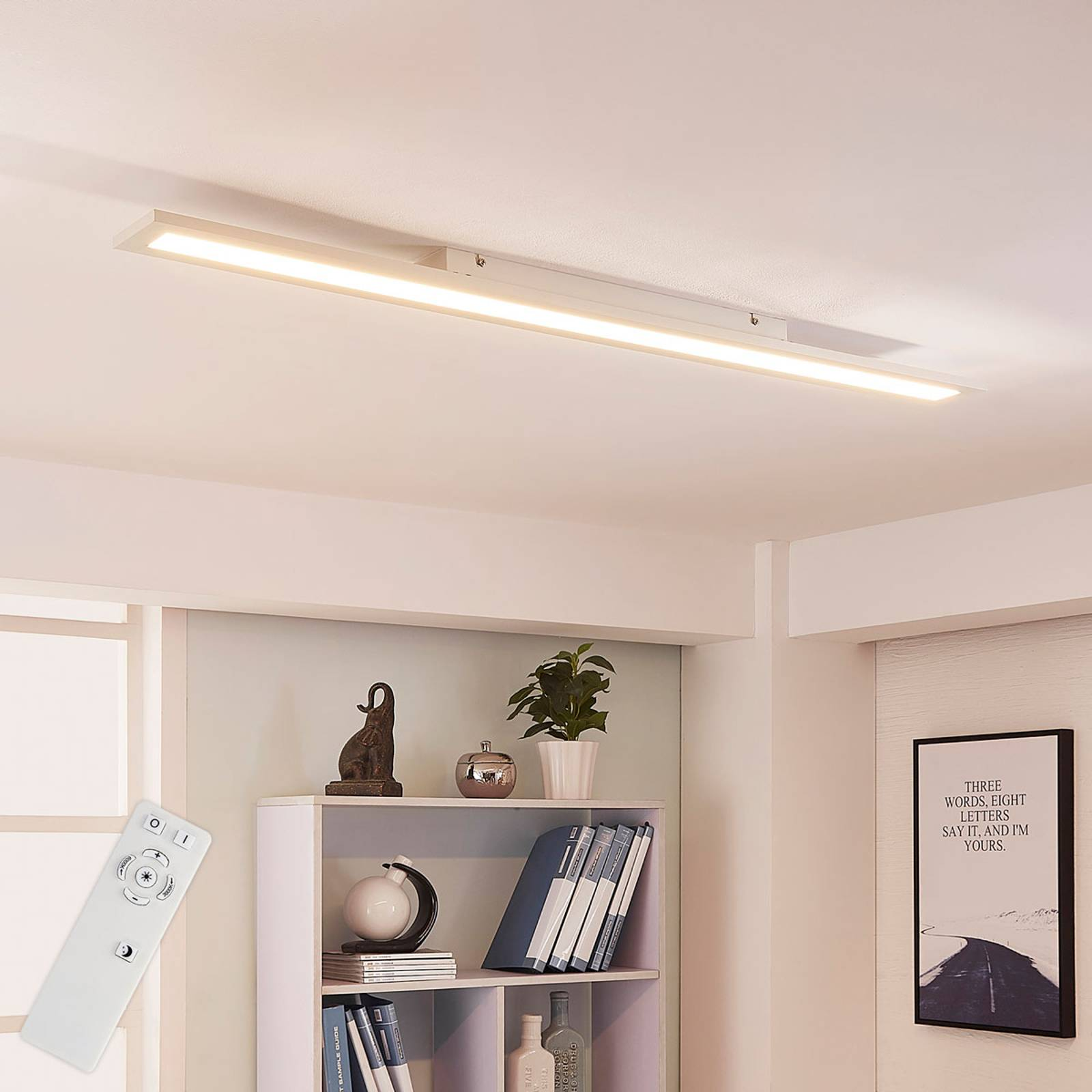 Arcchio Arya -LED-paneeli, himmennys, 119cm x 10cm