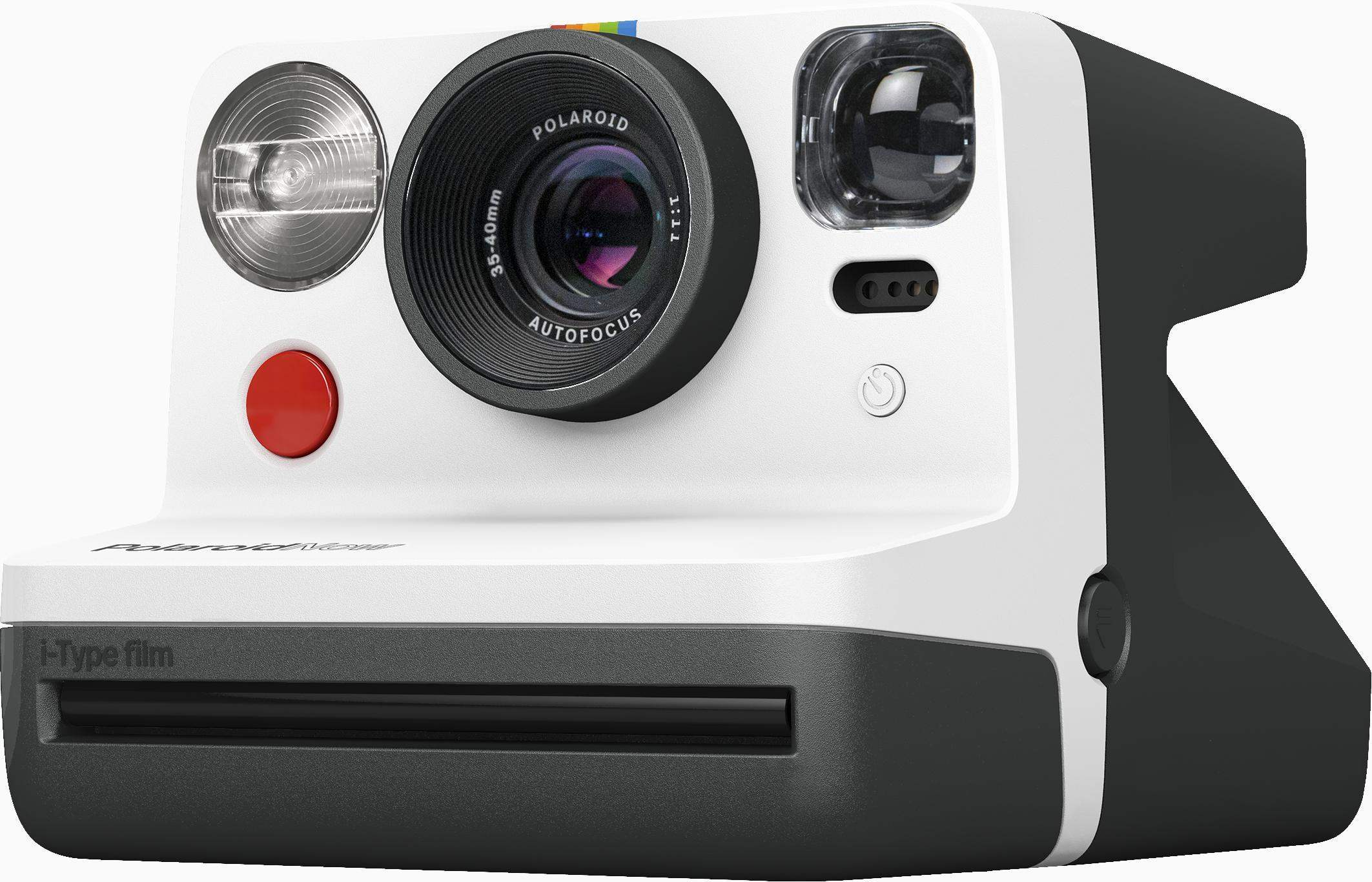 Polaroid - Now Point & Shoot Camera - Black/White
