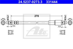 Jarruletku, Etuakseli, AUDI 100, 100 Avant, A6, A6 Avant, 4A0 611 707