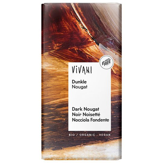 Vivani Ekologisk Mörk Nougat, 100 g