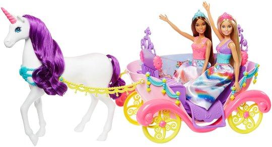 Barbie Dreamtopia 2 Dukker med Vogn og Enhjørning