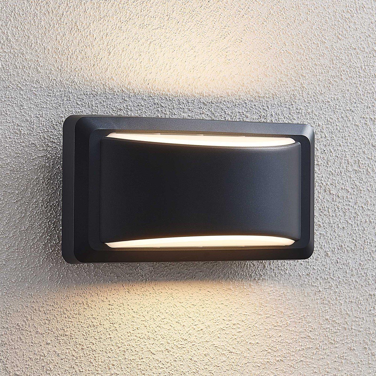 Utendørs LED-vegglampe Iskia, brede stripe