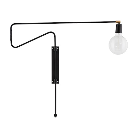 Vägglampa Swing 70cm Svart