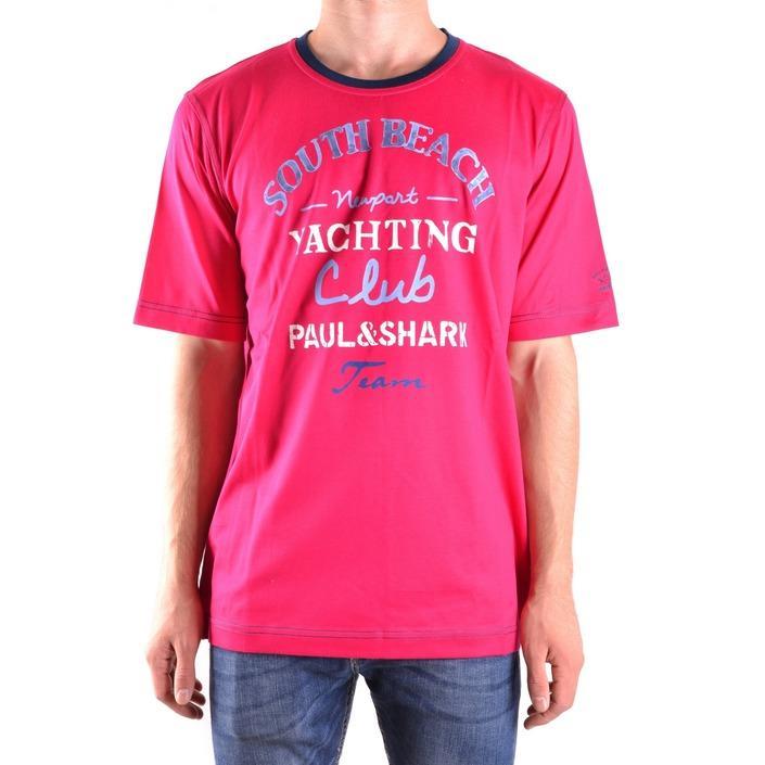 Paul&shark Men's T-Shirt Liliac 161621 - liliac L