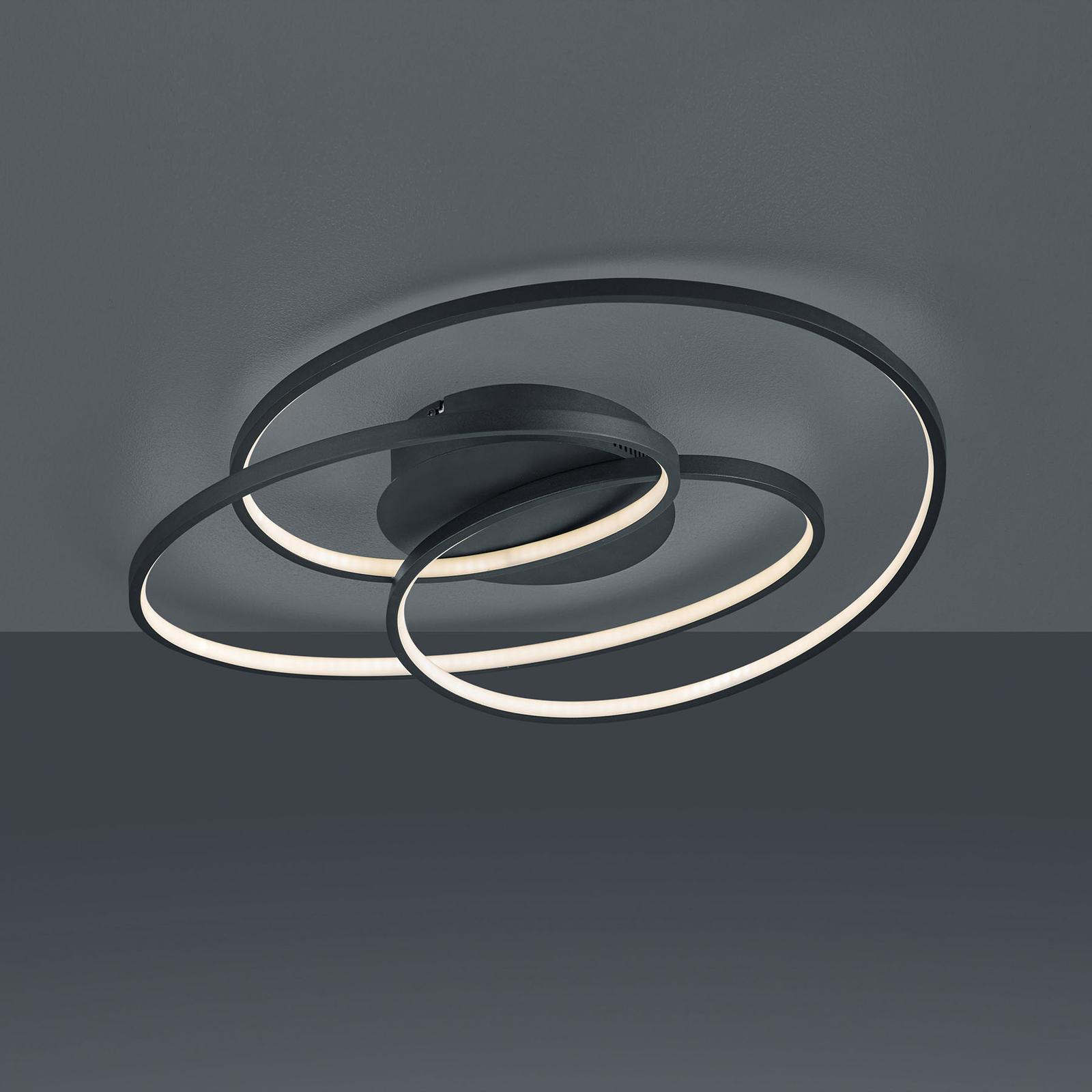 LED-kattovalaisin Gale, 60 cm, matta musta