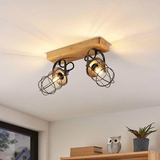 Lindby Serima taklampe med to burskjermer